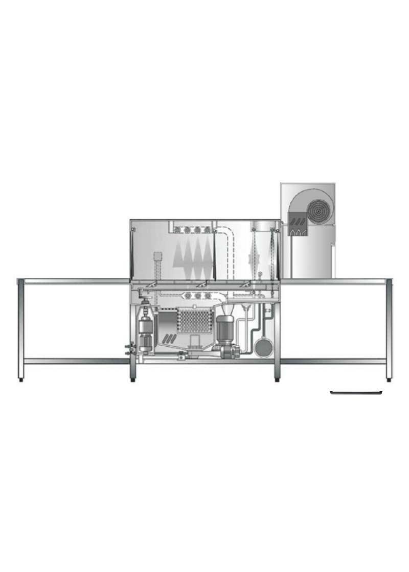Hobart Kurutmalı Konveyörlü Bulaşık Makinesi CS-A-22 R/L
