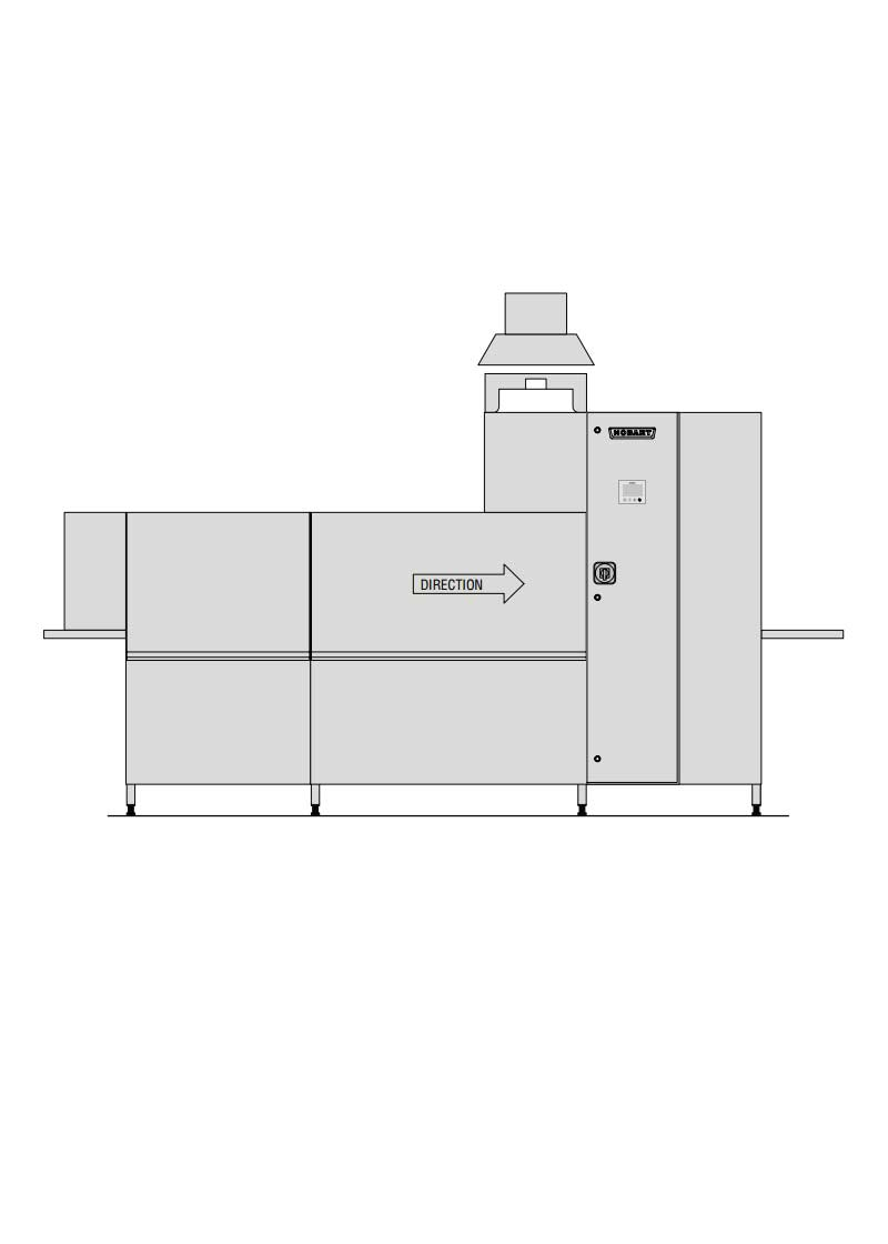 Hobart Premium Kurutmalı Konveyörlü Bulaşık Makinesi CP-S-A