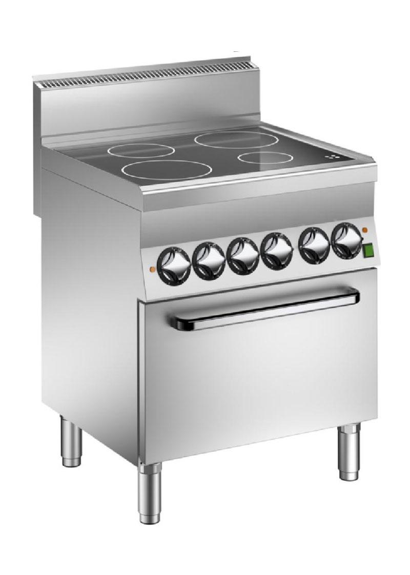 Mareno 600 Serisi Seramik Cam Yüzeyli 4 Pişirme Bölgeli Elektrikli Fırınlı Kuzine 70x65x87 cm - V6FEV7E